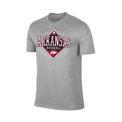 Arkansas Baseball Short Sleeve T Shirt GREY
