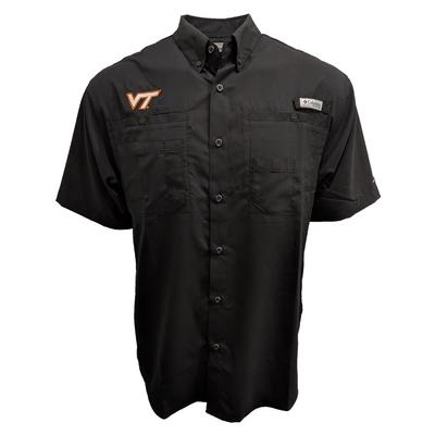 Virginia Tech Columbia PFG Tamiami Woven Shirt