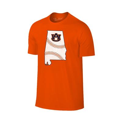 Auburn Laces in State Short Sleeve T Shirt ORG