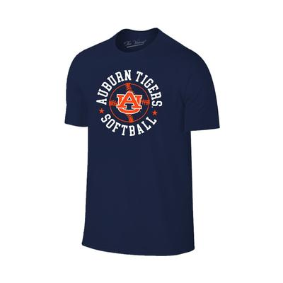 Auburn Softball with Logo Short Sleeve Tee