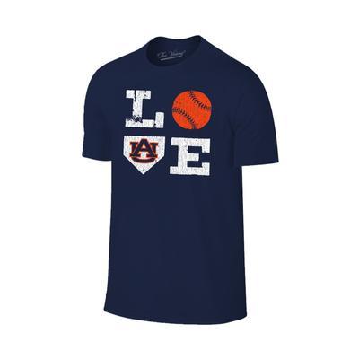 Auburn Love Softball Short Sleeve T Shirt