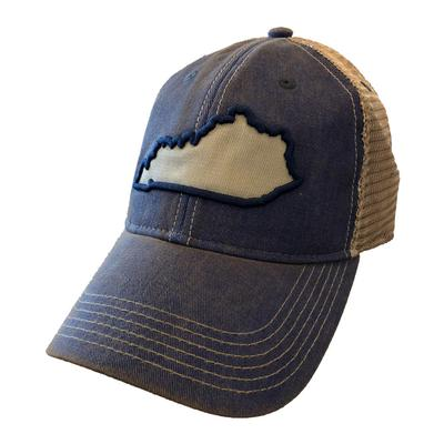 Kentucky Legacy State Outline Mesh Trucker Hat