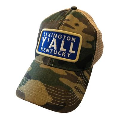 Kentucky Y'ALL Mesh Trucker Hat CAMO/MESH