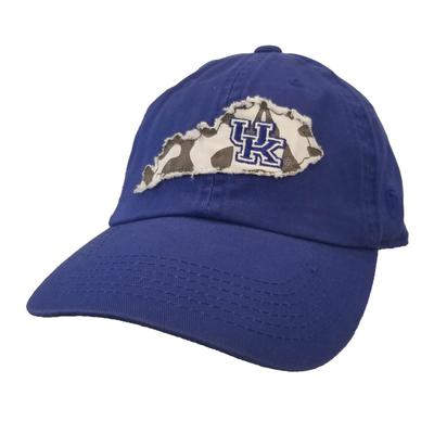 Kentucky Women's State Outline Patch Adjustable Hat