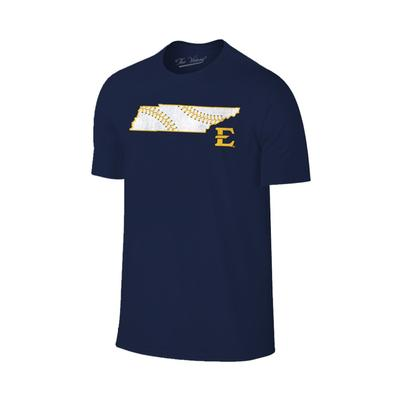 ETSU Baseball Laces In State T Shirt