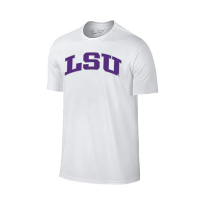 LSU Lined Arch Short Sleeve T Shirt WHITE