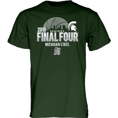 Michigan State Spartans 2019 Cityscape Final Four T Shirt