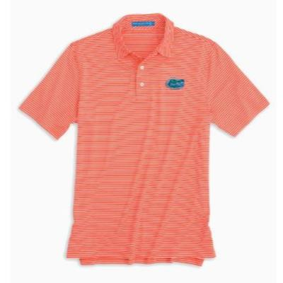 Florida Southern Tide Gameday Striped Polo ENDZONE_ORANGE