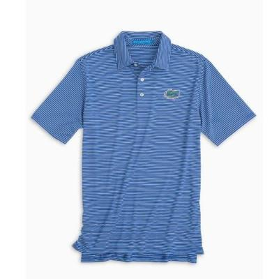 Florida Southern Tide Gameday Striped Polo UNIVERSITY_BLUE