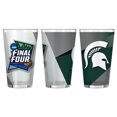 Michigan State Spartans 2019 Final Four 16oz Pint Glass