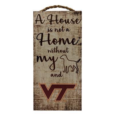 Virginia Tech Home W/ Dog Wall Decor
