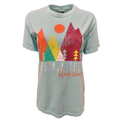 Virginia Tech Comfort Colors Mountain Cutouts T-Shirt