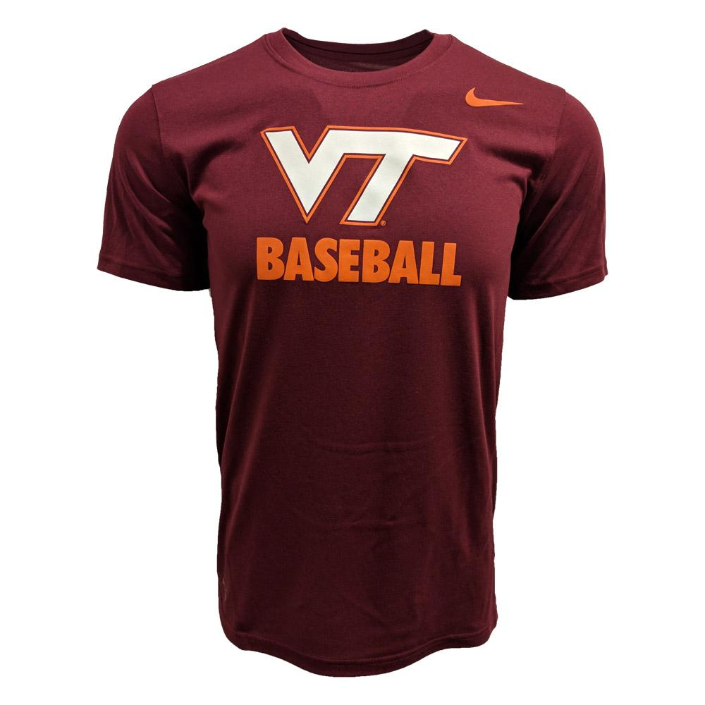 Virginia Tech Nike Dri- Fit Baseball T- Shirt