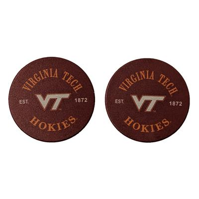 Virginia Tech Thirsty Car Coaster 2 Pack