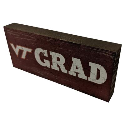 Virginia Tech Legacy Mini Table Top Graduate Decor