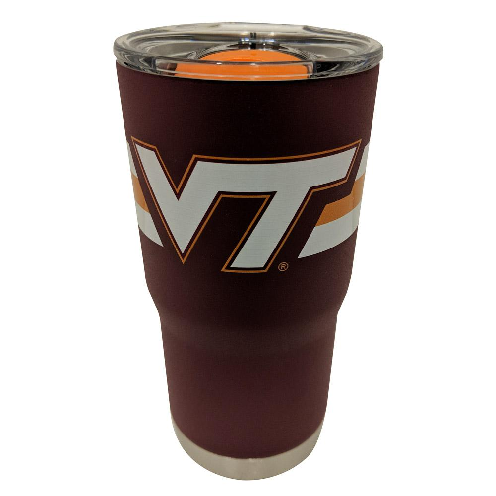 Virginia Tech Gametime Sidekicks 20 Oz.Striped Tumbler