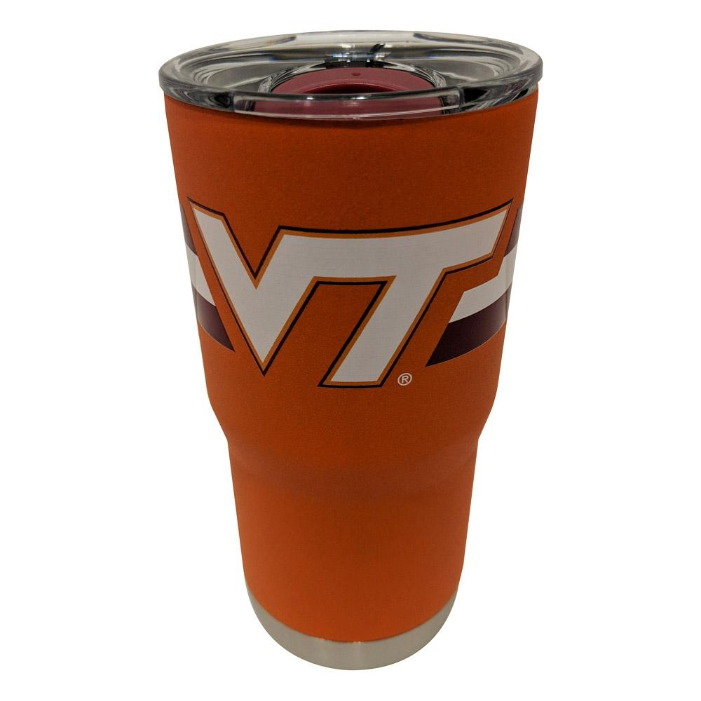 Virginia Tech Gametime Sidekicks 20 Oz.Striped Tumbler