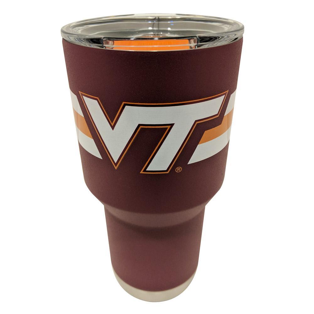 Virginia Tech Gametime Sidekicks 30 Oz.Striped Tumbler