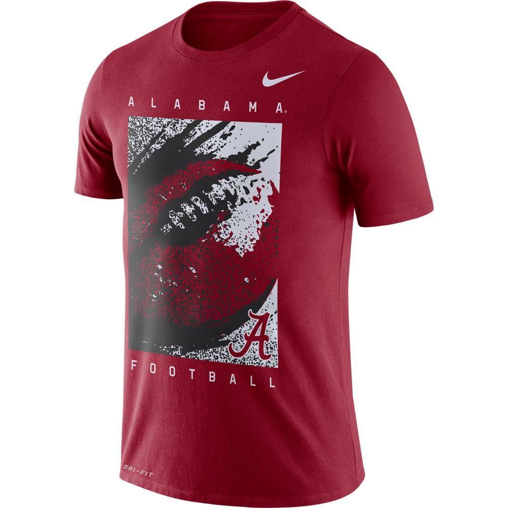 Alabama Nike Dri- Fit Cotton Short Sleeve Football Tee