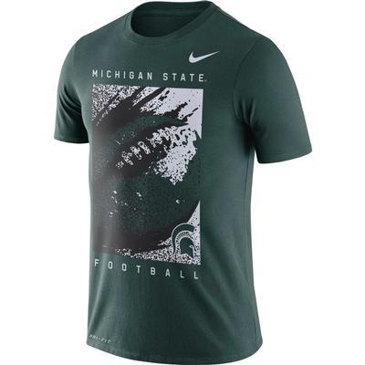 Michigan State Nike Dri-FIT Cotton Short Sleeve Football Tee