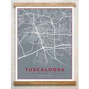 Chirpwood Tuscaloosa Canvas Map 13