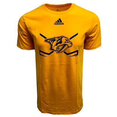 Nashville Predators Adidas Locker Short Sleeve Tee