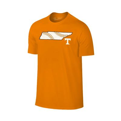 Tennessee Baseball Laces In State T-Shirt
