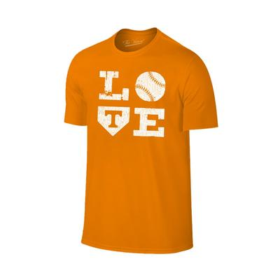 Tennessee Love Softball Short Sleeve T Shirt