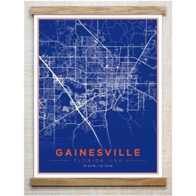Two Stick Frames 13 X 19 Color Gainesville Map