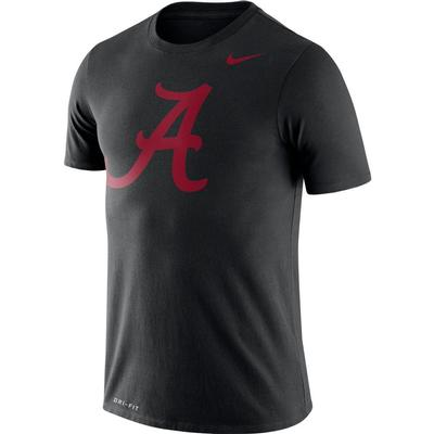 Alabama Nike Dri-FIT Legend Logo Tee BLACK