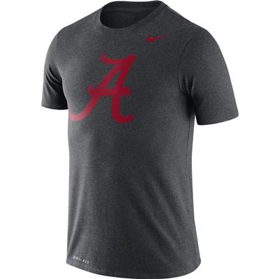 Alabama Nike Dri-FIT Legend Logo Tee CHARCOAL_HTHR