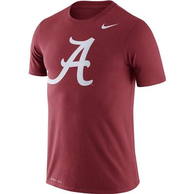 Alabama Nike Dri-FIT Legend Logo Tee TEAM_CRIMSON