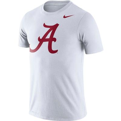 Alabama Nike Dri-FIT Legend Logo Tee WHITE