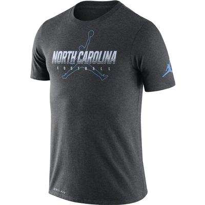 UNC Jordan Brand Dri-FIT Cotton Facility Tee