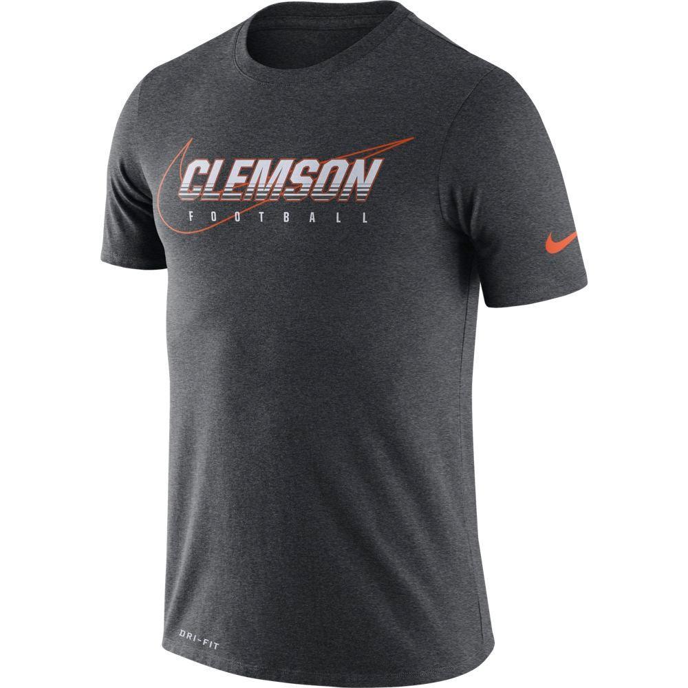 Clemson Nike Dri- Fit Cotton Facility Tee