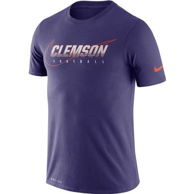 Clemson Nike Dri-FIT Cotton Facility Tee ORCHID