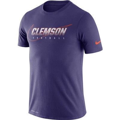 Clemson Nike Dri-FIT Cotton Facility Tee