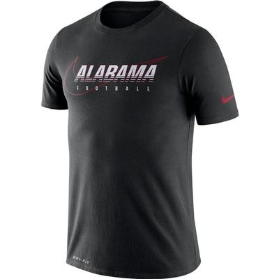Alabama Nike Dri-FIT Cotton Facility Tee BLACK