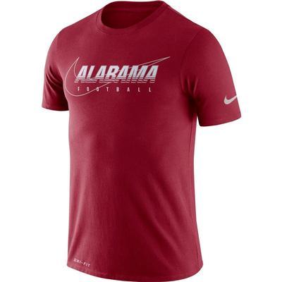 Alabama Nike Dri-FIT Cotton Facility Tee TEAM_CRIMSON