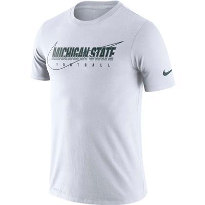 Michigan State Nike Dri-FIT Cotton Facility Tee