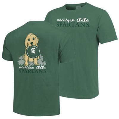Michigan State Frisbee Dog Comfort Colors Tee