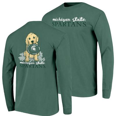 Michigan State Frisbee Dog Comfort Colors L/S Tee