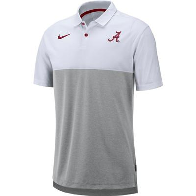 Alabama Nike Breathe Color Block Polo WHITE/GREY