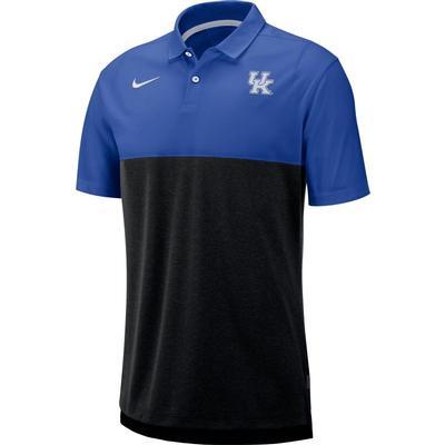 Kentucky Nike Breathe Color Block Polo ROYAL/BLACK