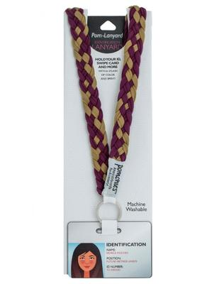 Pomchies Burgundy and Gold Lanyard