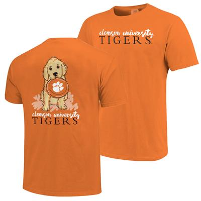 Clemson Frisbee Dog Comfort Colors Tee