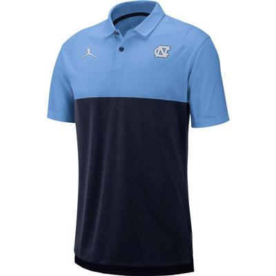 UNC Jordan Brand Breathe Color Block Polo