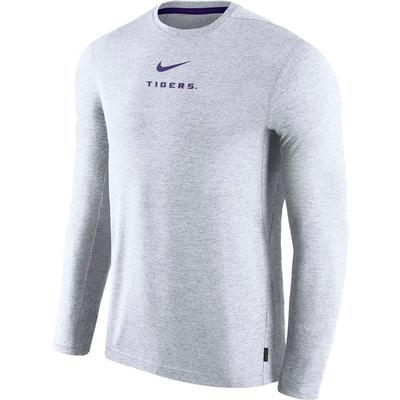 LSU Nike Dry Long Sleeve Coaches Tee