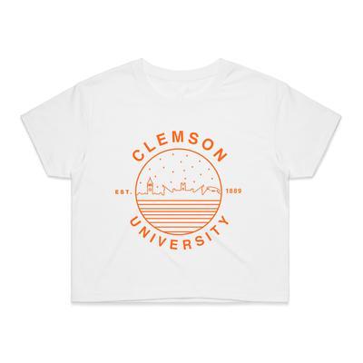 Clemson Women's Starry Night Crop Tee