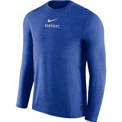 Kentucky Nike Dry Long Sleeve Coaches Tee
